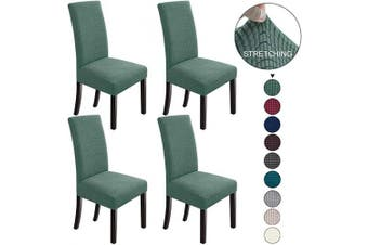 (4, Cyan) - NORTHERN BROTHERS Dining Chair Covers Stretch Chair Covers Parsons Chair Slipcover Chair Covers for Dining Room Set of 4,Dark Cyan