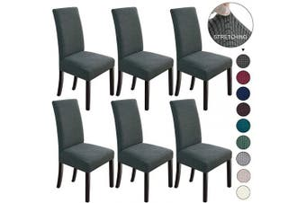 (6, Dark Grey) - Dining Chair Covers Stretch Chair Covers Parsons Chair Slipcover Chair Covers for Dining Room Set of 6,Dark Grey