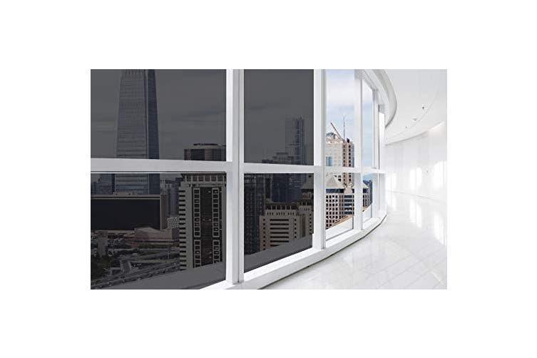 60cm X 200cm Black One Way Window Film Reusable Privacy Glass Film Window Film Sun Blocking Reflective Window Tint For Home 60cm X 200cm Black Matt Blatt