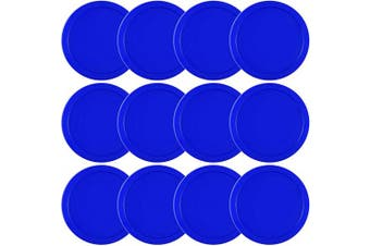 (Blue) - Coopay 12 Pieces Home Air Hockey Pucks 6.4cm Heavy Replacement Pucks for Game Tables Equipment Accessories, 13 Grammes