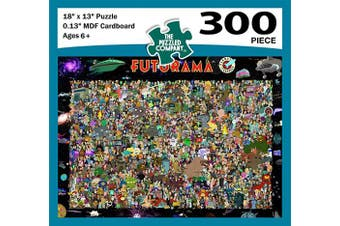 Futurama Inspired 300 Piece Jigsaw Puzzle - Quality Print & Cardboard - Perfect Fun Gift - Great for Ages 6+