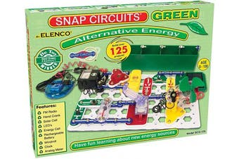 Snap Circuits Green Alternative Energy Electronics Exploration Kit | Over 125 STEM Projects | Full Colour Project Manual | 40+ Snap Circuits Parts | STEM Educational Toys for Kids 8+,Multicoloured