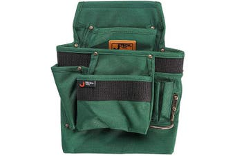 (3 Pocket) - Jetech 3 Pocket Tool Pouch - Heavy Duty Waist Belt Hanging Utility Bag