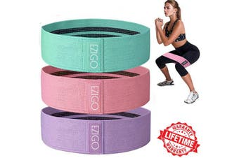 EZIGO Training Resistance Booty Bands Exercise Fabric Booty Band Workout Elastic Bands Legs and Butt 3 Levels Workout Bands for Women Sports Bands