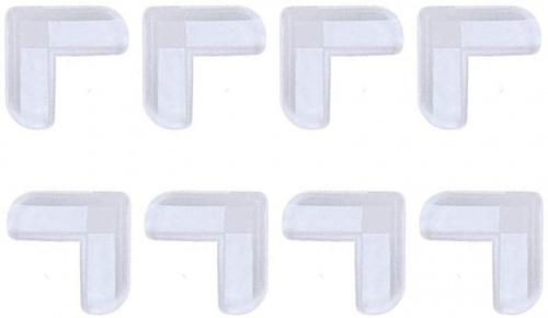 8Pieces Clear Childrens Table Angle Pad Furniture Nook Anti Collision Frame Corner Protector