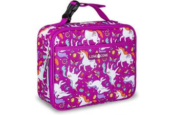 (X-Large, Mary the Unicorn) - LONECONE Kids' Insulated Fabric Lunch Box - Fun Patterns for Boys and Girls, Mary the Unicorn, X-Large