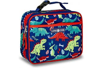 (Standard, Snack-O-Saurus) - LONECONE Kids' Insulated Fabric Lunch Box - Fun Patterns for Boys and Girls, Snack-O-Saurus, Standard