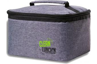 (Lunch Bag) - Clean LunchN Insulated Lunch Bag - Mens and Womens Large Portable Thermal Heater and Cooler Tote Box for Kids and Adults, Stainless Steel Bento Containers, Healthy Snacks, Hot or Cold Food