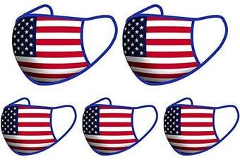 (5PCS-National flag) - Reusable Cotton Fabric,Fashion Protective, Unisex Black Dust Cotton, Washable(5PCS-National flag)