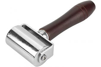 """(2.36""""/60mm) - Leather Press Edge Roller Leathercraft Wooden Handle Carbon Steel Leather Rolling Craft Roller Tool Leather Press Edge Creaser Edger Rolling Tool (2.36""""/60mm)"""