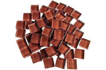 (Brown) - BestTeam Craft Material Mosaic Tile, Micro Glass Tiny Mini Mosaic Tile DIY Hobbies Children Handmade Crystal Free Stone Craft Material Creativity 300g (Brown)