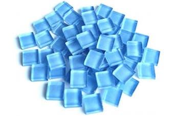 (Light Blue) - BestTeam Craft Material Mosaic Tile, Micro Glass Tiny Mini Mosaic Tile DIY Hobbies Children Handmade Crystal Free Stone Craft Material Creativity 300g (Light Blue)
