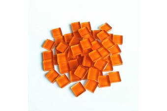 (Orange) - BestTeam Craft Material Mosaic Tile, Micro Glass Tiny Mini Mosaic Tile DIY Hobbies Children Handmade Crystal Free Stone Craft Material Creativity 300g (Orange)