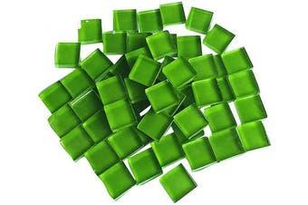 (Green) - BestTeam Craft Material Mosaic Tile, Micro Glass Tiny Mini Mosaic Tile DIY Hobbies Children Handmade Crystal Free Stone Craft Material Creativity 300g (Green)