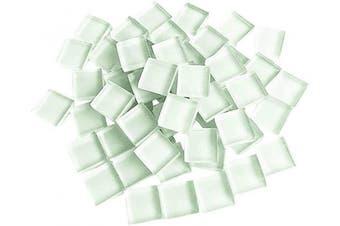 (White) - BestTeam Craft Material Mosaic Tile, Micro Glass Tiny Mini Mosaic Tile DIY Hobbies Children Handmade Crystal Free Stone Craft Material Creativity 300g (White)