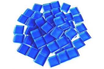 (Deep Blue) - BestTeam Craft Material Mosaic Tile, Micro Glass Tiny Mini Mosaic Tile DIY Hobbies Children Handmade Crystal Free Stone Craft Material Creativity 300g (Deep Blue)
