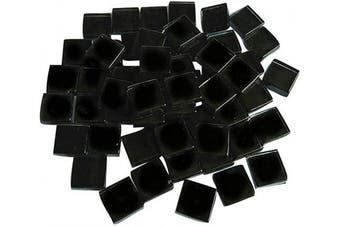 (Black) - BestTeam Craft Material Mosaic Tile, Micro Glass Tiny Mini Mosaic Tile DIY Hobbies Children Handmade Crystal Free Stone Craft Material Creativity 300g (Black)
