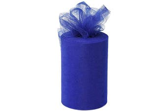 (Royal Blue) - Desirable Life 15cm x 100 Yards (90m) Tulle Roll Spool Fabric Tutu for DIY Skirts Wedding Gift Wrap Sewing Crafting Bow Bridal Decorations Birthday Party