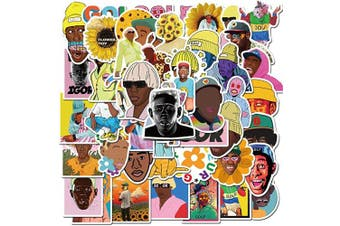 Pop Rap Singer Tyler The Creator Stickers Pack,Tyler Gregory Okonma Superstar Stickers for Teens and Adults,Vinyl Decals for Water Bottles Laptop Phone Case (Tyler The Creator)
