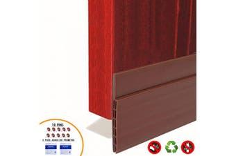 """(Brown) - BAINING Door Draught Stopper Sweep, 7.6cm Widening Door Bottom Seal Strip Under Door Noise Blocker for Interior Doors Insulation and Soundproofing, 3"""" W x 39"""" L Brown (2019 New Upgrade)"""