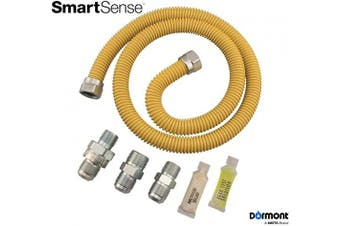 (90cm  In. Long, 1.3cm . Outside Diameter, 20C, Yellow Coated) - Dormont 0222524 SmartSense Gas Dryer & Water Heater Appliance Connector Kit, 90cm In. Long, 1.3cm . Outside Diameter, Yellow Coated