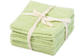 (30cm  X 30cm , Green - Terry Cloth (Baby Towel )) - Cotton Kitchen Towels - Cotton Hand Towel - Green Cotton Dish Towels - Dish Towels Dish Cloth Hand Towels - 100% Cotton Kitchen Hand Towels - Cotton Dish Towel Set of 6 (12 X 12, Teal)