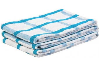 (46cm  X 70cm , Checked Dishtowel - Blue) - All Cotton and Linen Dish Towel (18 X 28, Checked Dishtowel - Blue)