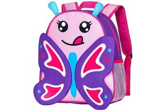 """(30cm  Backpack, 12"""" Butterfly 2-6 Years Old(l)) - Butterfly Backpack, 30cm Toddler Backpacks for Girls"""
