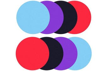 WeTest 8 Pieces Silicone Jar Gripper Pads Round Kitchen Coasters Multi-Purpose Bottle Lid Openers, 12cm , 4 Colours