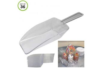 Evelots Serving Scoops-Clear-Kitchen-Candy/Powder/Sugar/Coffee/Tea/Ice-Set/36