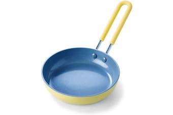 (Egg Pan, 13cm , Yellow) - GreenPan Mini Healthy Ceramic Nonstick Yellow Egg Pan, 13cm