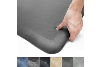 (43cm  x 60cm x 3/10cm , Dark Gray) - Colour & Geometry Anti Fatigue Floor Comfort Mat 1.9cm Thick 43cm 60cm Perfect for Standing Desks, Kitchen Sink, Stove, Dishwasher, Countertop, Office or Garage, Dark Grey