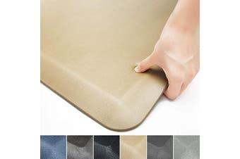 (43cm  x 60cm x 3/10cm , Beige) - Colour & Geometry Anti Fatigue Floor Comfort Mat 1.9cm Thick 43cm 60cm Perfect for Standing Desks, Kitchen Sink, Stove, Dishwasher, Countertop, Office or Garage, Beige