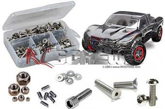 RCScrewZ Traxxas Slash 4x4 Ultimate LCG Platinum Stainless Steel Screw Kit, Complete Replacement for Rusted and Stripped Screws, RC Car Upgrade, Assembled in USA. tra051 for Traxxas 68086-3/6804