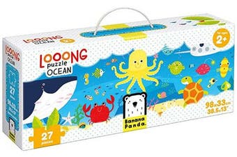 (Ocean) - Banana Panda - Looong Puzzle Ocean - Large Jigsaw Floor Puzzle for Kids Ages 2 Years and Up,Multicolor