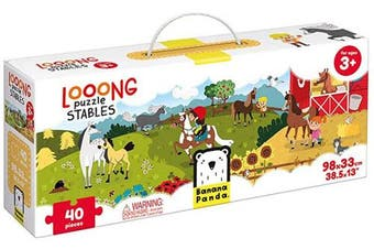 (Stables) - Banana Panda Looong Puzzle Stables - Large Floor Jigsaw Puzzle for Kids Ages . Up,Multicolor