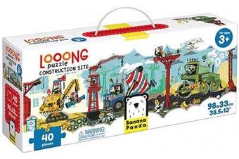 (Construction Site) - Banana Panda Looong Puzzle Construction Site - Large Floor Jigsaw Puzzle for Kids Ages . Up
