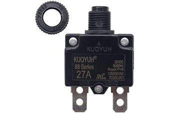 (27A) - KUOYUH Circuit Breaker 88 series 125/250VAC 50/60Hz (1pc) (27A)