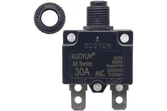 (30 Amp) - KUOYUH Circuit Breaker 88 series 125/250VAC 50/60Hz (1pc) (30A)