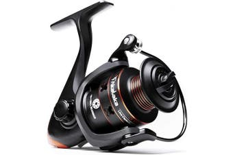 (2000) - Akataka Spinning Reel - Affordable Powerful Spinning Fishing Reels, Ultra Smooth 10+1 Stainless BB, Left/Right Interchangeable Metal Handle, High Capacity Aluminium Spool