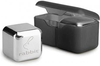 Rabbit Whiskey and Beverage Jumbo Chilling Stones Set, Chrome