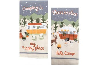 18TH STREET GIFTS Camper Decor 2 Piece Towel Set - Camper Decorations for Travel Trailers
