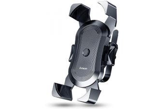 Anwas Bike Phone Mount, [2020 Mechanical Safety Locking System] Phone Mount for Bike, Anti-Shake 360° Rotation Bike Phone Holder, Fit for iPhone 11 Pro Max XS XR X 8 7 Plus 6s and All Android Phone