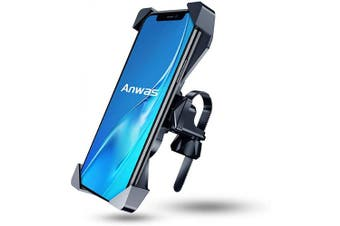 Anwas Bike Phone Mount, [2020 Mechanical Safety Locking System] Phone Mount for Bike, Anti-Shake 360° Rotation Bike Phone Holder, Fit for iPhone 11 Pro Max XS XR X 8 7 Plus and All Android Phone