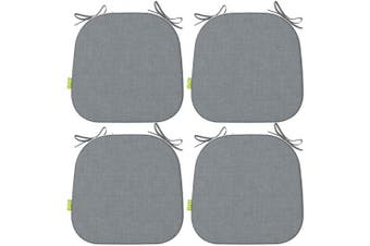 LVTXIII Patio Seat Cushions 41cm x 43cm Outdoor Chair Pads All Weather Chair Cushions for Garden Patio Furniture Chair Home Set of 4 – Grey Textured