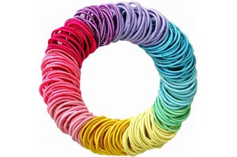 Hair Ties,200 Pieces Ponytail Holders Hair Tie,Colourful Hair Rope Thin Hairbands For Girls Women(2.5 x 0.2 cm)