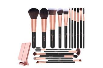 BESTOPE Makeup Mirror & Makeup Brush Set