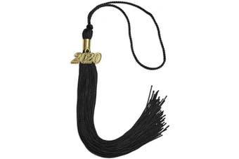(2020, Black) - Endea Graduation Single Colour Tassel With Gold Date Drop