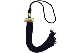 (2020, Navy Blue) - Endea Graduation Single Colour Tassel With Gold Date Drop