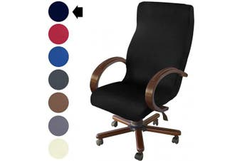 (Black) - NORTHERN BROTHERS Office Chair Cover Computer Desk Chair Covers Stretch Rolling Chair Slipcover (Black)